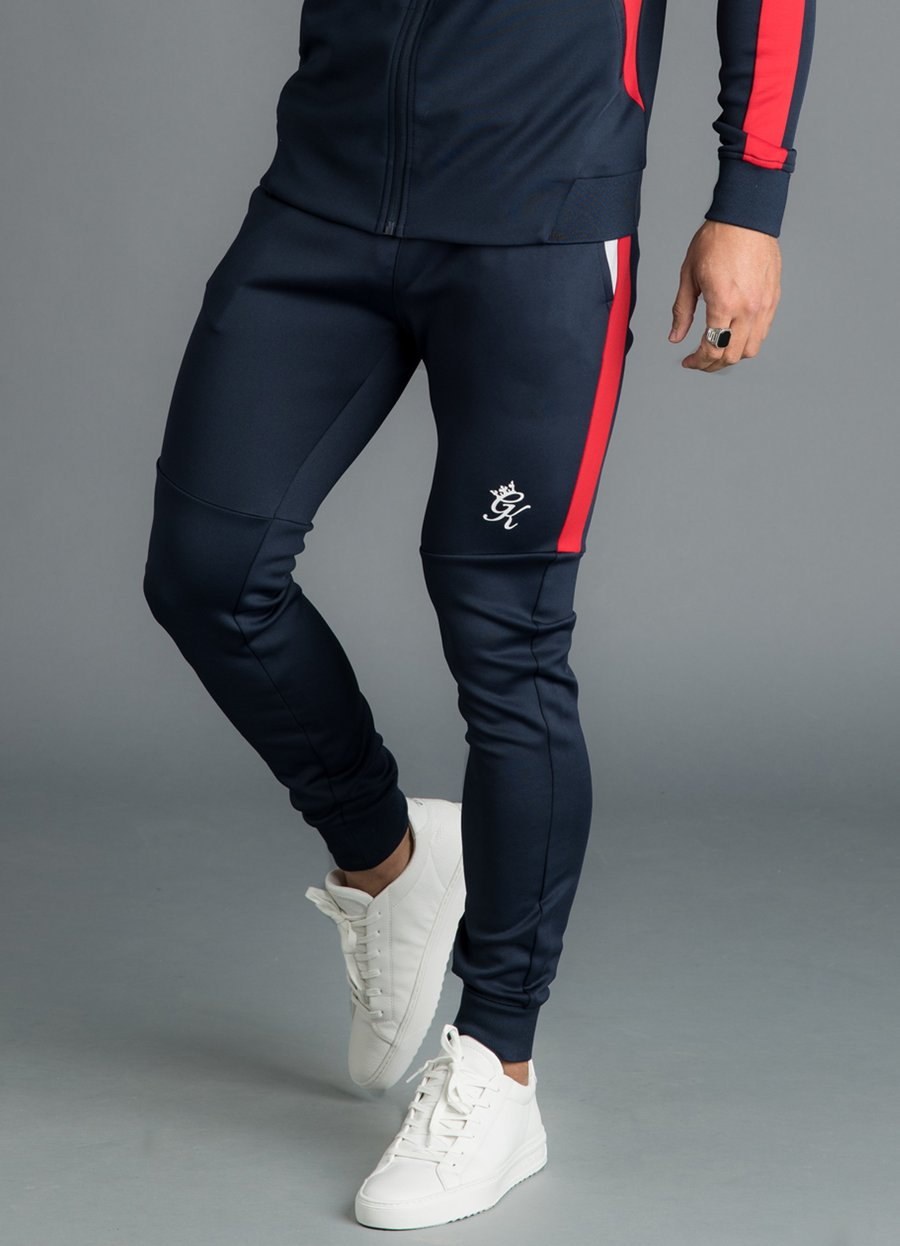 GK Koen Tracksuit Bottoms - Microchip/Navy Nights/Red