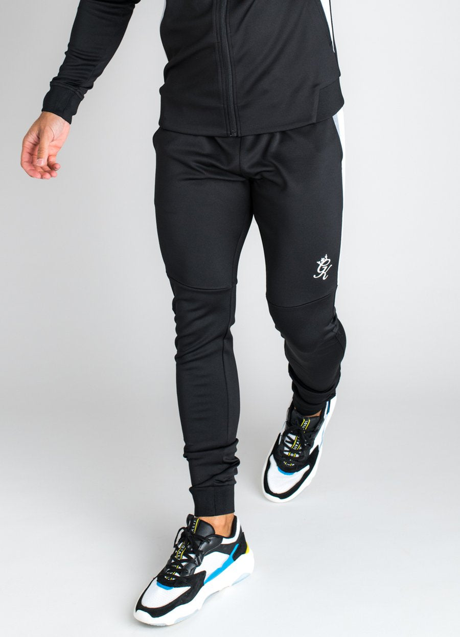 GK Koen Poly Tracksuit Bottoms - Black/Charcoal Marl