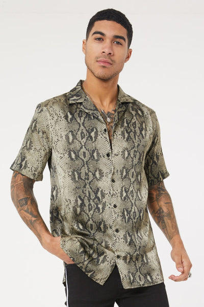 Snake Print Resort Shirt
