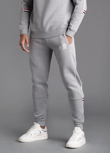 GK Lewis Retro Taped Tracksuit Bottom-Silver Grey