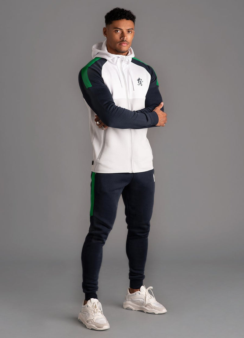 GK Lombardi Tracksuit Top - Microchip/White/Navy Nights/Green