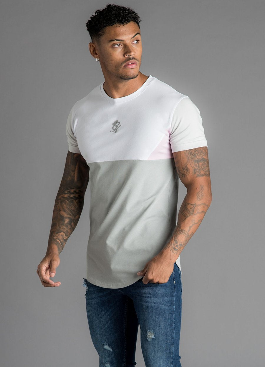 GK Lupo T-Shirt - Dark Grey/White/Microchip/Pink