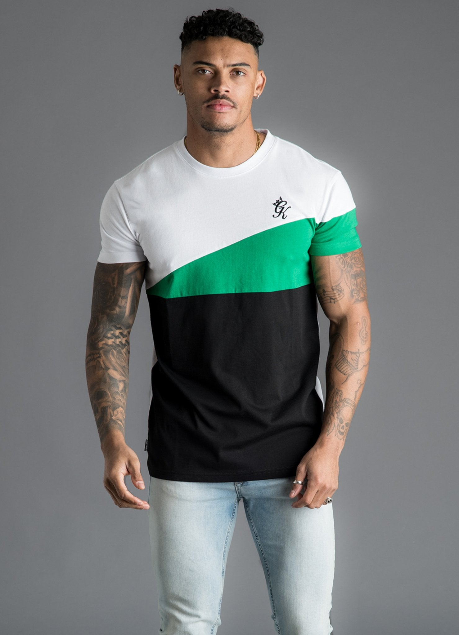 GK Nicolas T-Shirt - White/Black/Green -