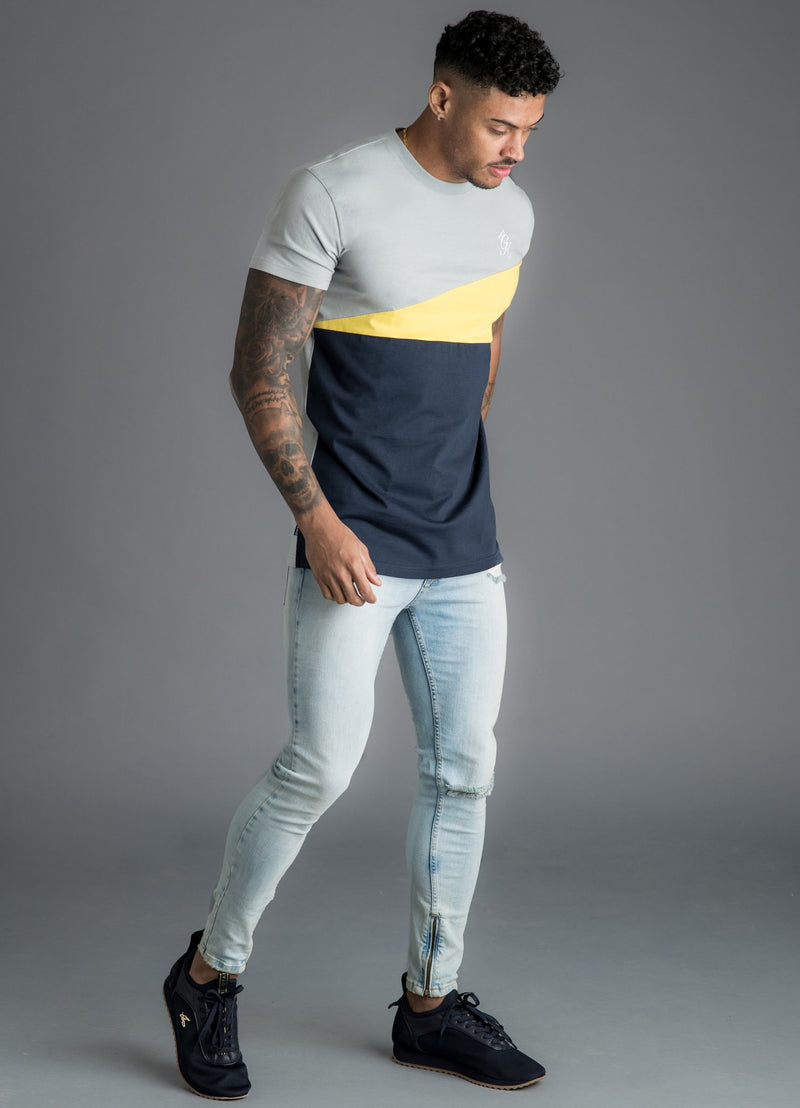 GK Nicolas T-Shirt - Navy Nights/Grey/Yellow