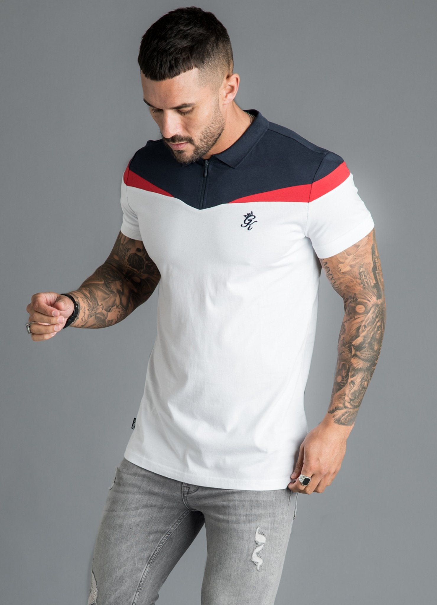 GK Owens Jersey Polo-Navy