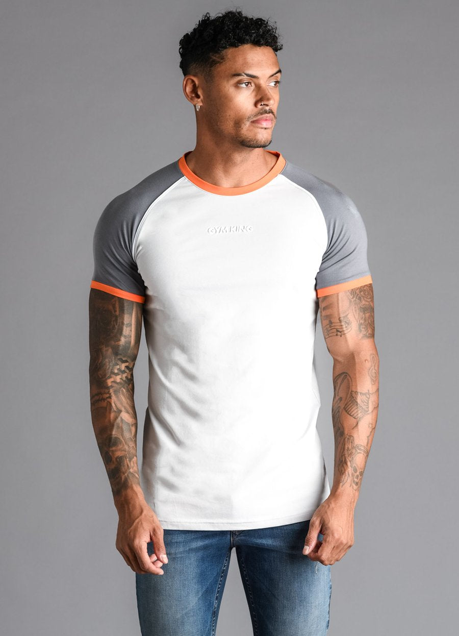 GK Revers T-Shirt - Microchip/Grey/Orange