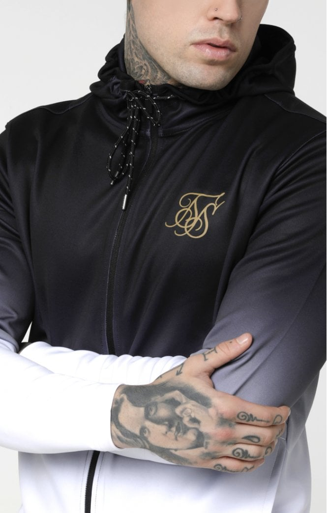 Agility Zip Through Hoodie - Black & White