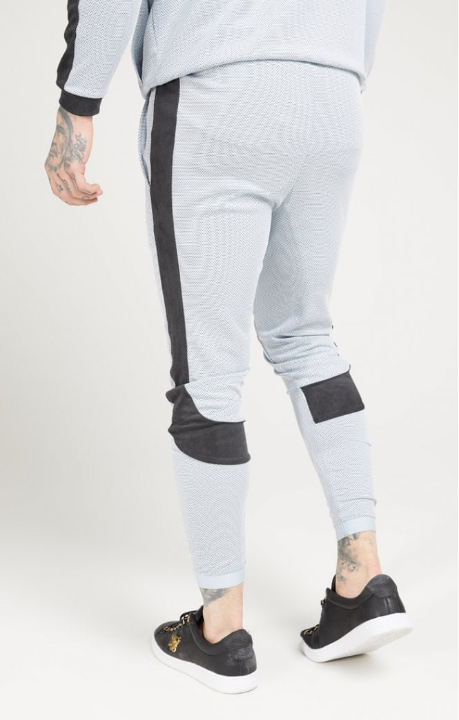 SikSilk Athlete Eyelet Tape Track Pants – Ice Grey & Charcoal - ZANMODA
