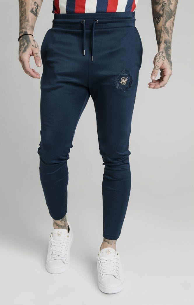 SikSilk Athlete Track Pants - Navy