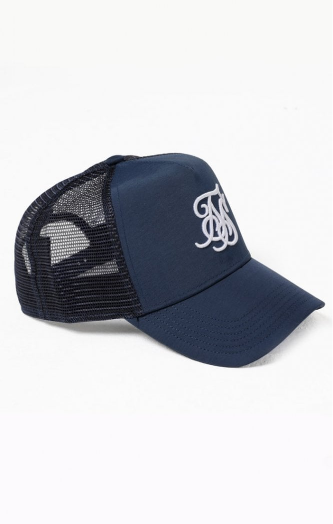 SikSilk Bent Peak Trucker – Navy