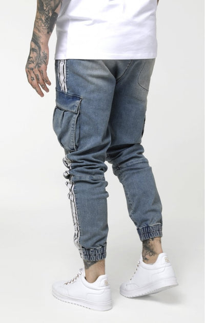 Cargo Pants - Light Blue Denim