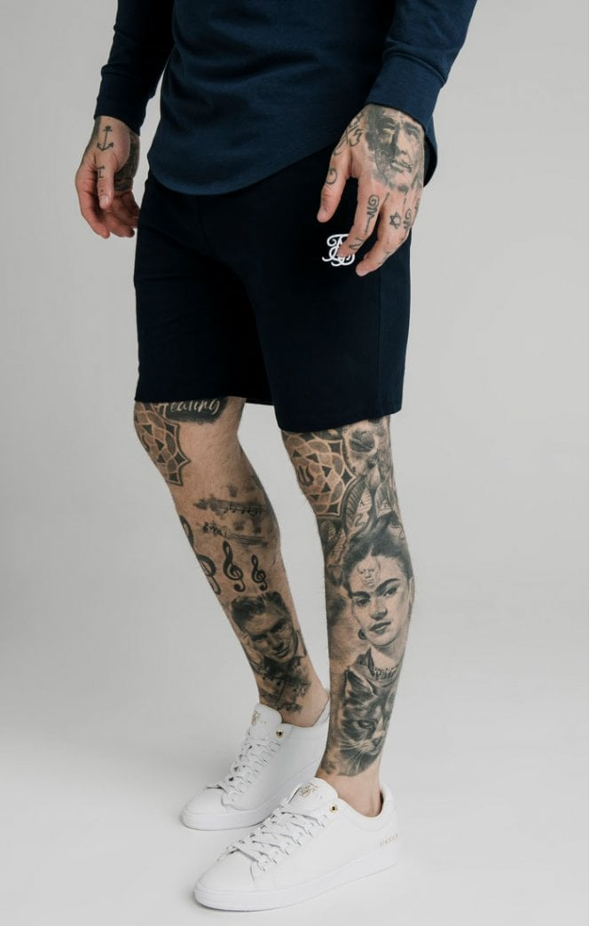 SikSilk Jersey Shorts - Navy
