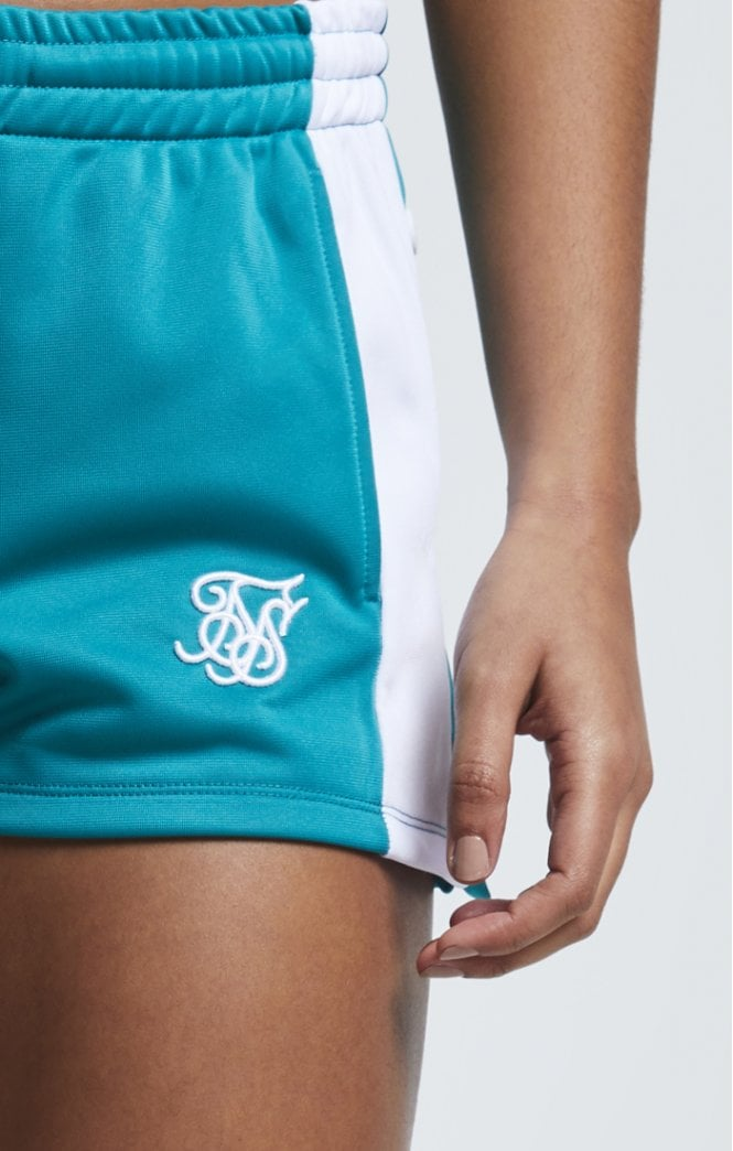 SikSilk Popper Side Shorts – Deep Peacock Blue - ZANMODA