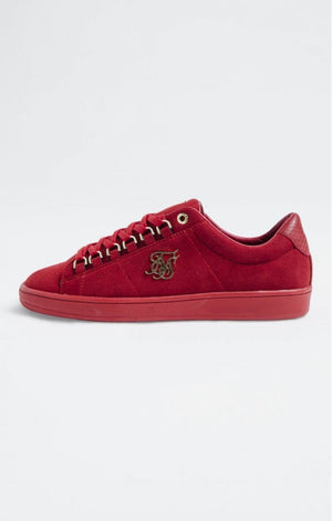 SikSilk Prestige Low Suede - Red - ZANMODA