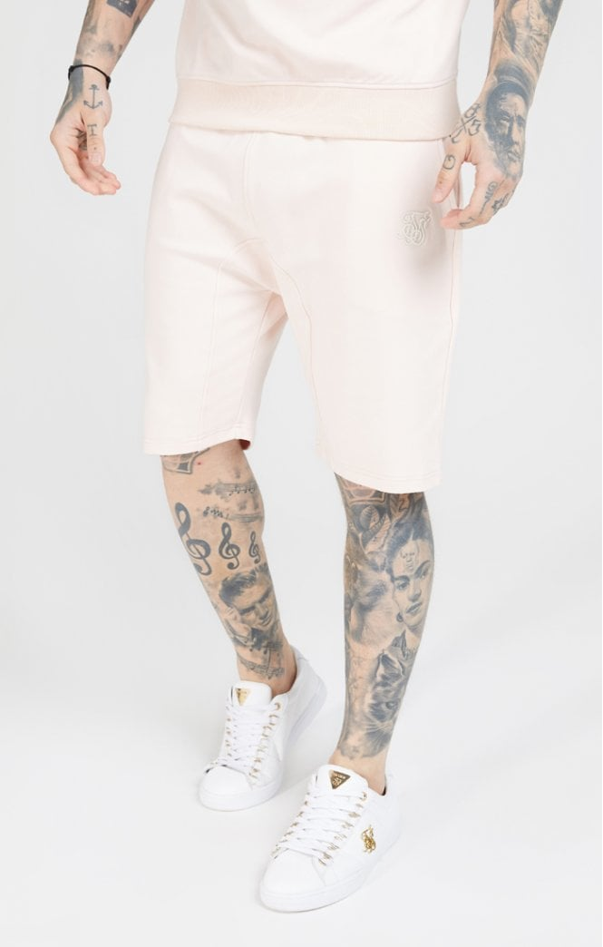 SikSilk Relaxed Shorts - Cloudy Pink - ZANMODA
