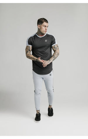 SikSilk S/S Eyelet Tech Tee – Charcoal Grey - ZANMODA