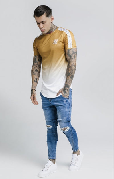 S/S Taped Fade Gym Tee – Gold Mustard