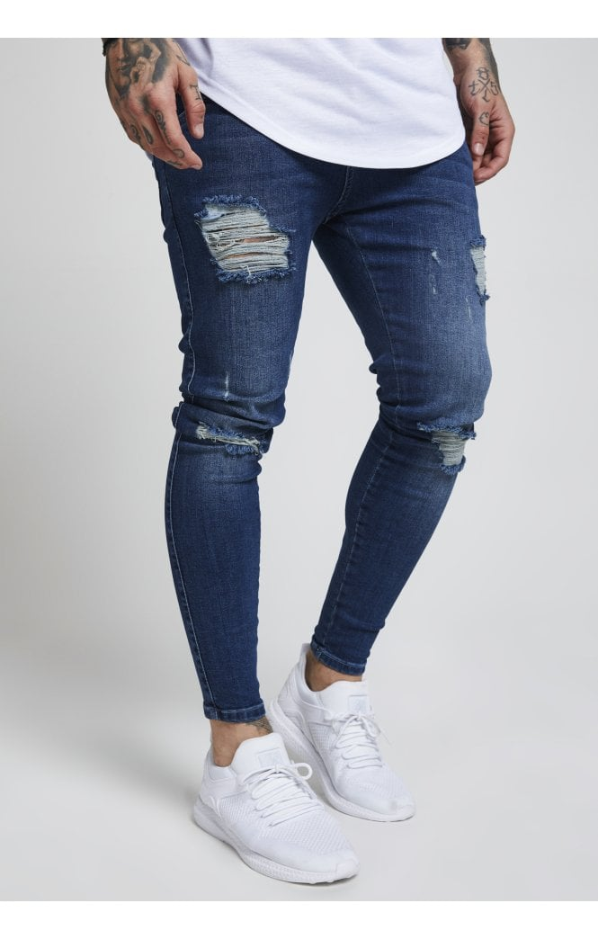 Skinny Distressed Denim – Midstone