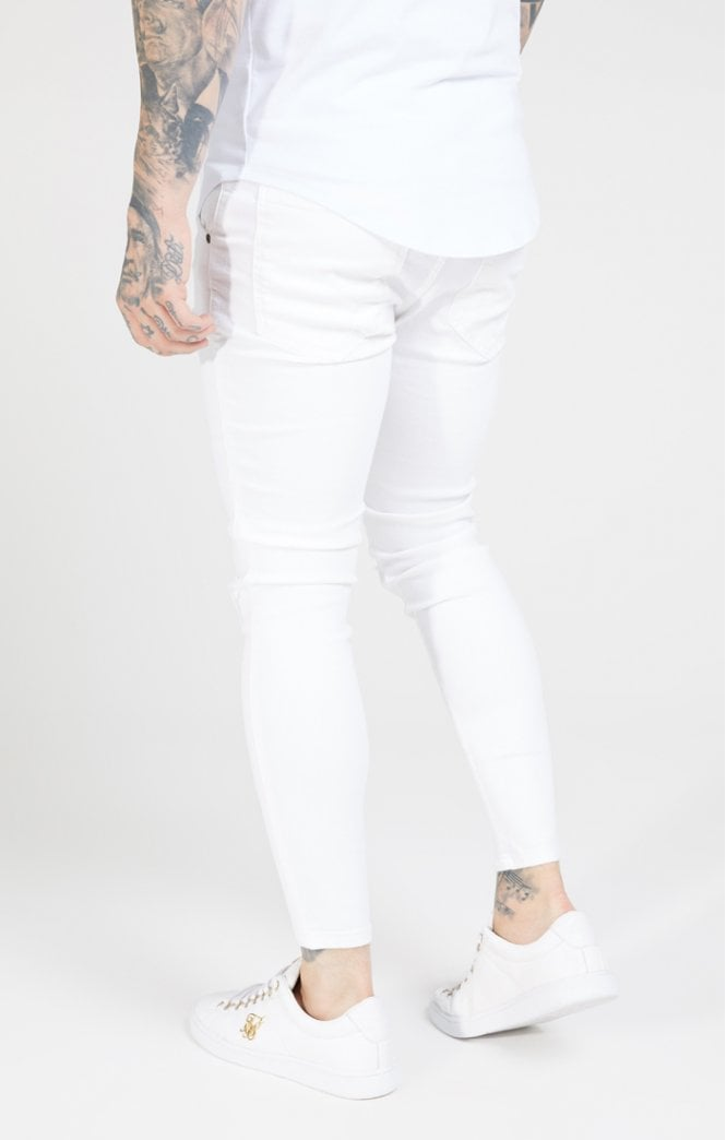 Skinny Distressed Denim – White - ZANMODA