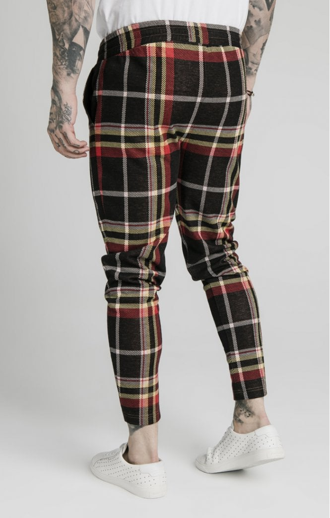 SikSilk Smart Cuff Pants - Mutil Grain Check - ZANMODA