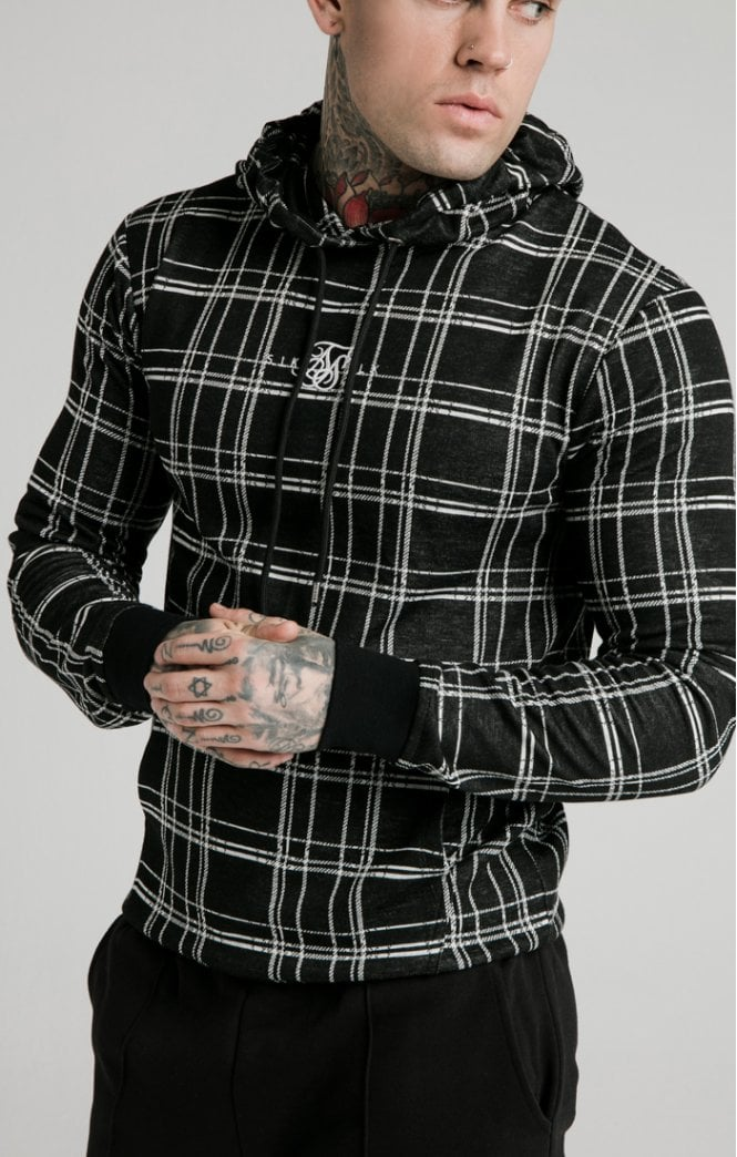 SikSilk Smart Overhead Hoodie – Black & White - ZANMODA