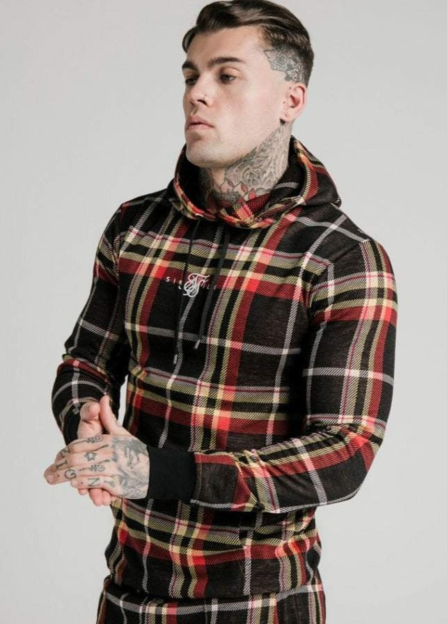 SikSilk Smart Overhead Hoodie – Multi Grain Check - ZANMODA
