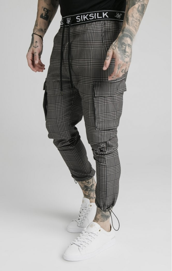 SikSilk Toggle Pants - Tan & Blac
