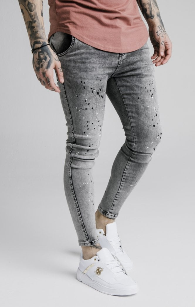 SikSilk  Twisted Skinny Denims - Snow Wash