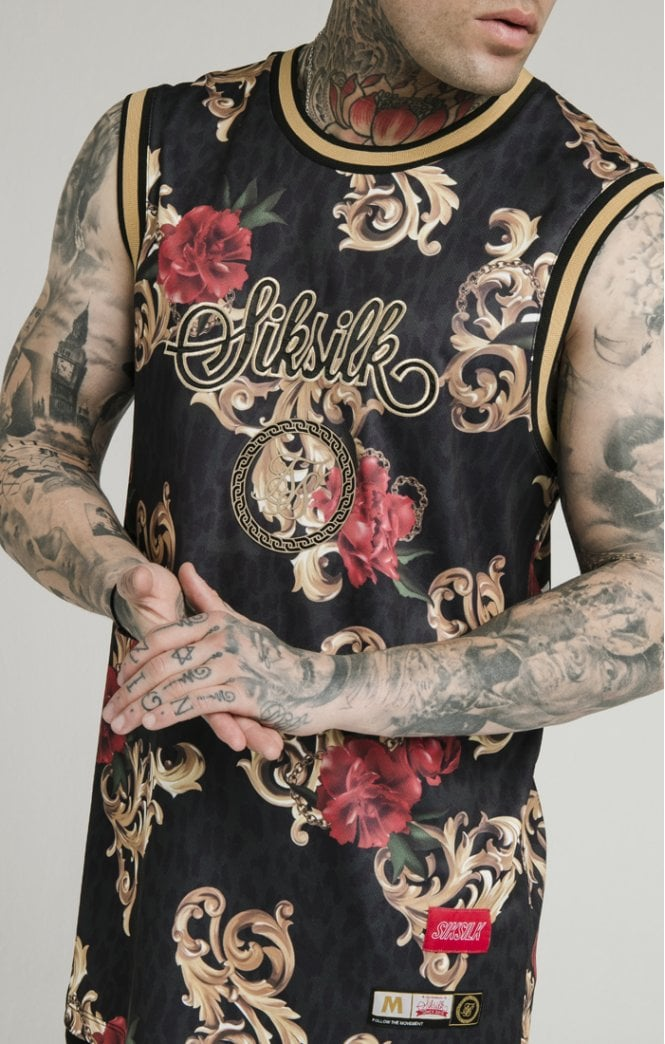 Dani Alves BasketBall Vest - Black Floral Animal