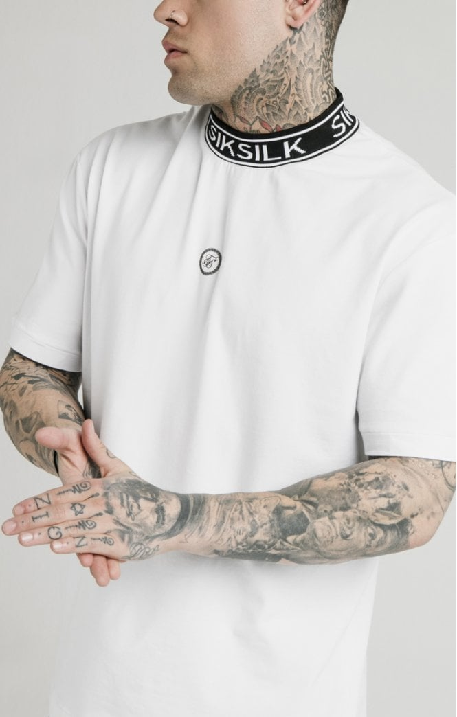 Dani Alves Branded High Collar Essential Tee - White