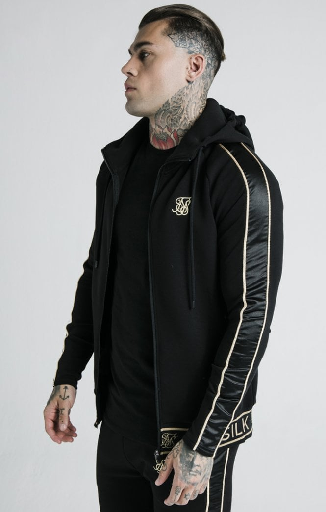 Dani Alves Branded Zip Through Hoodie – Black - ZANMODA