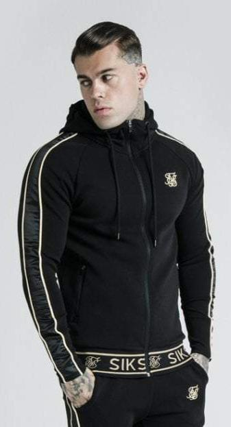 Dani Alves Branded Zip Through Hoodie – Black