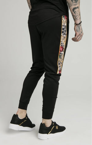 Dani Alves Cuffed Panel Jogger - Black - ZANMODA