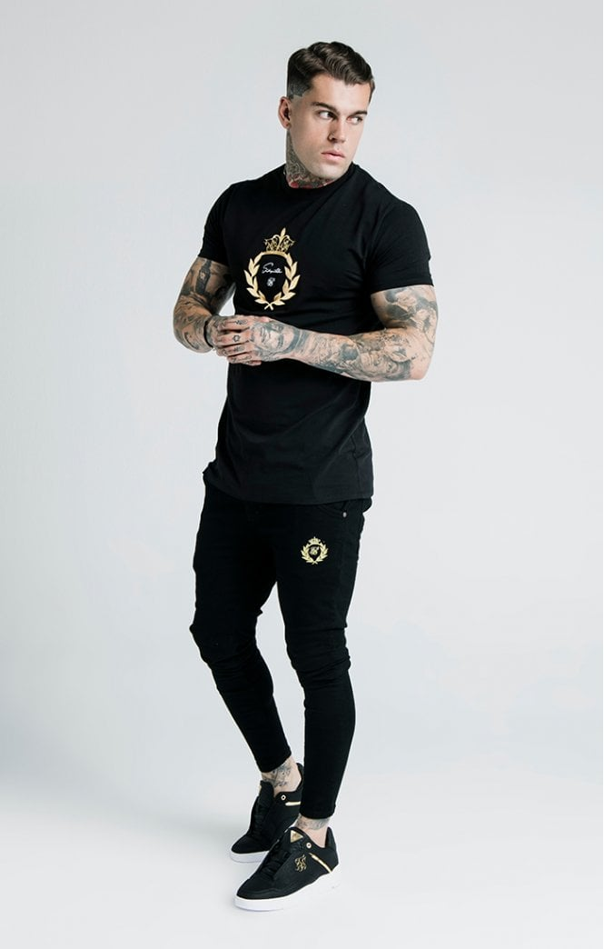 SikSilk x Dani Alves Embossed Fitted Box Tee - Black