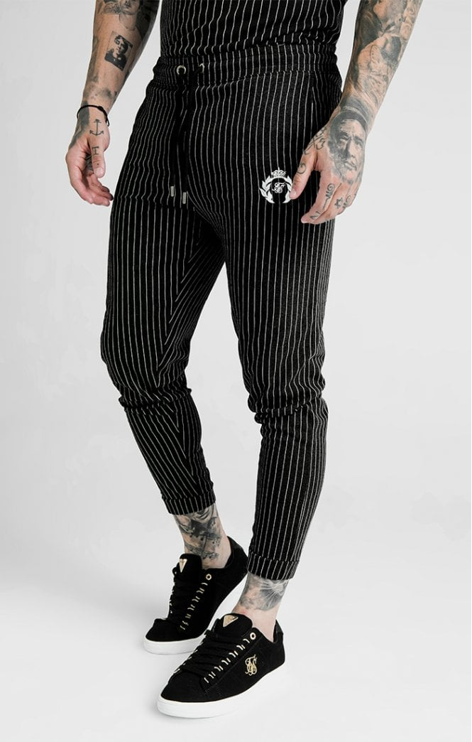 Dani Alves Fitted Smart Pants – Black & White