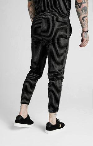 Dani Alves Fitted Smart Pants – Black & White - ZANMODA