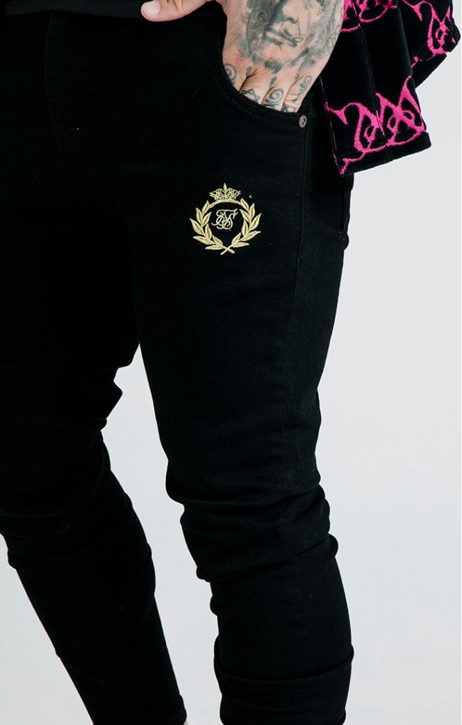 SikSilk x Dani Alves Low Rise Prestige Denims - Black - ZANMODA