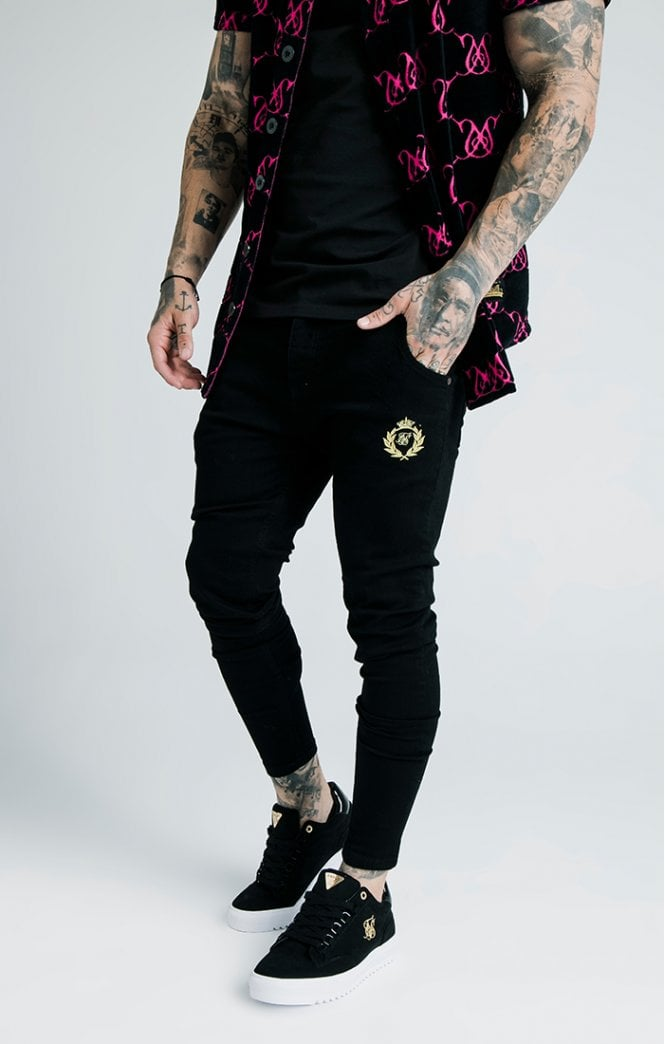 SikSilk x Dani Alves Low Rise Prestige Denims - Black