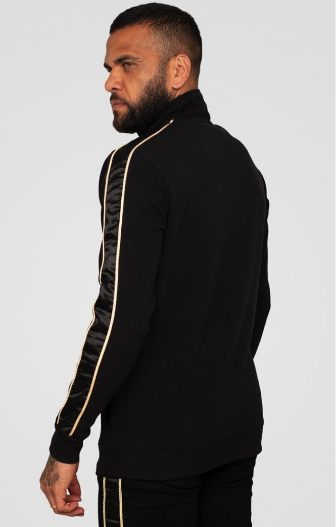 Dani Alves Quarter Zip Rope Track Top – Black - ZANMODA