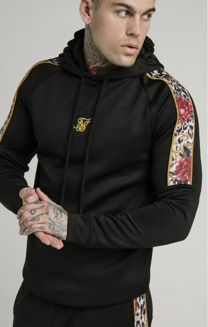 Dani Alves Raglan Muscle Fit Overhead Hoodie - Black