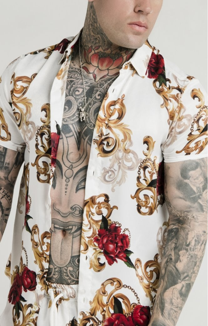 Dani Alves Resort Shirt - Floral Elegance