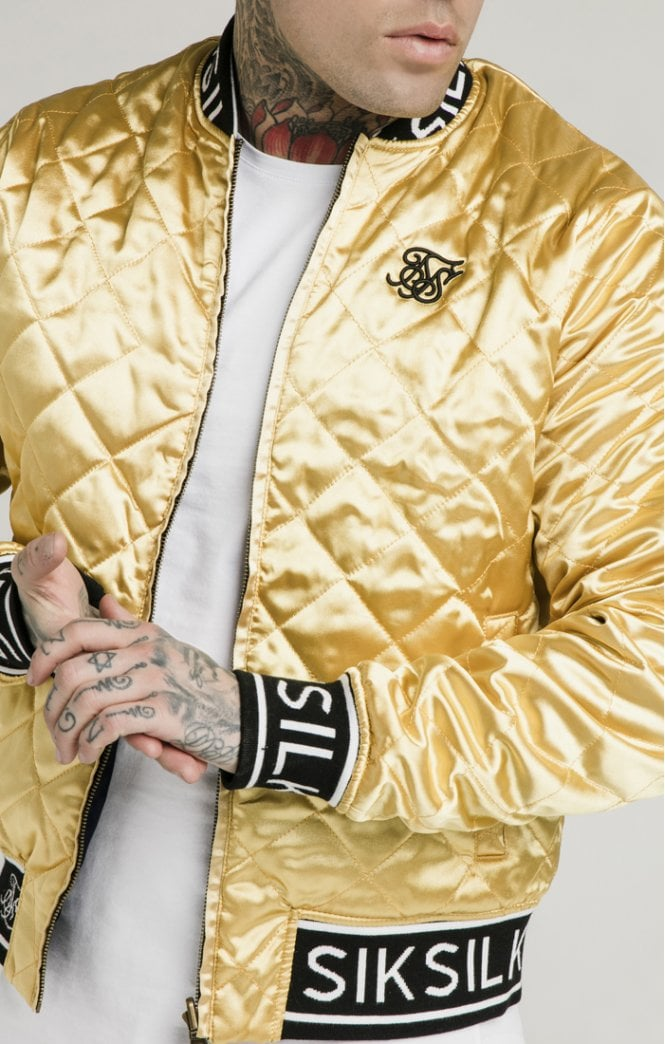 Dani Alves Reversible Bomber Jacket - Navy & Gold
