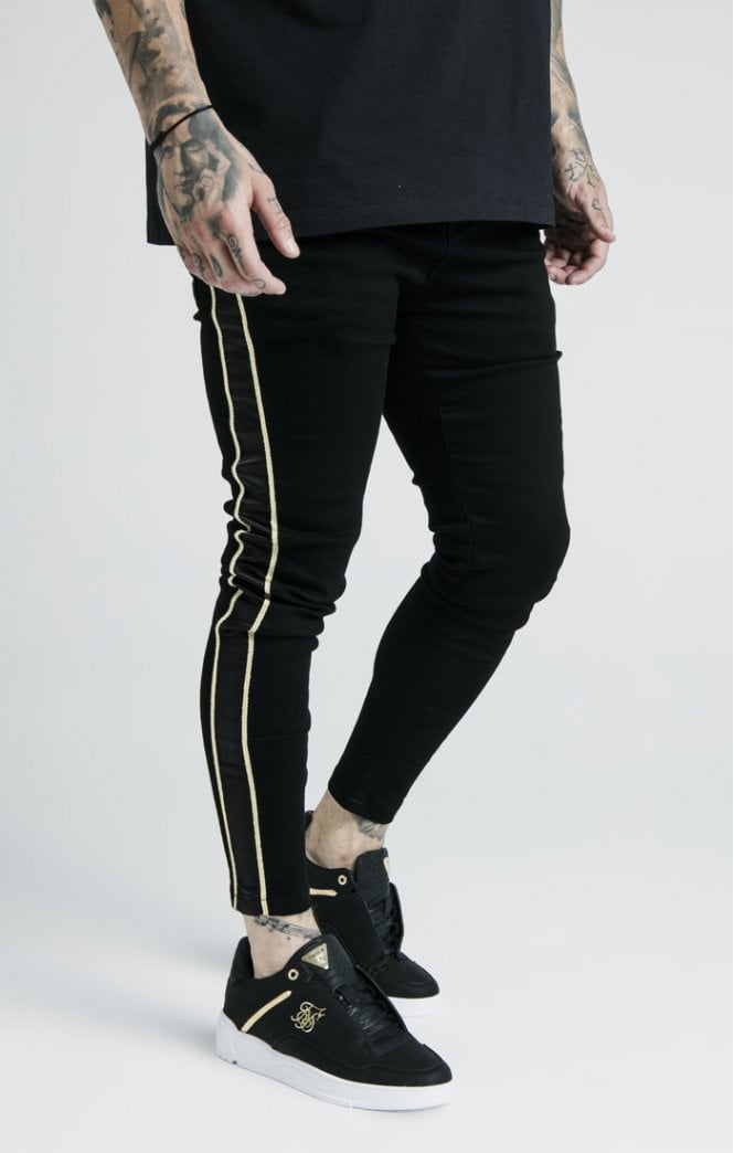 Dani Alves Skinny Rope Denim - Black - ZANMODA