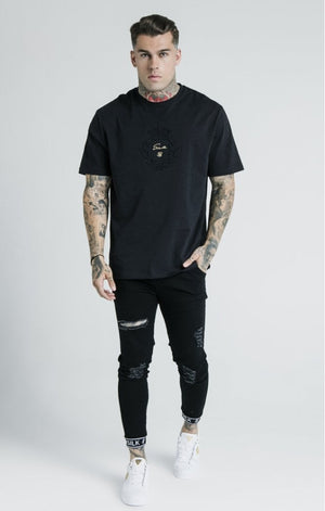 Dani Alves Skinny Tech Cuff Denim - Black - ZANMODA