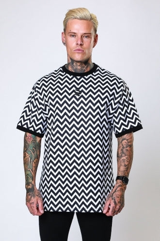 Drop Shoulder Tee - Zigzag