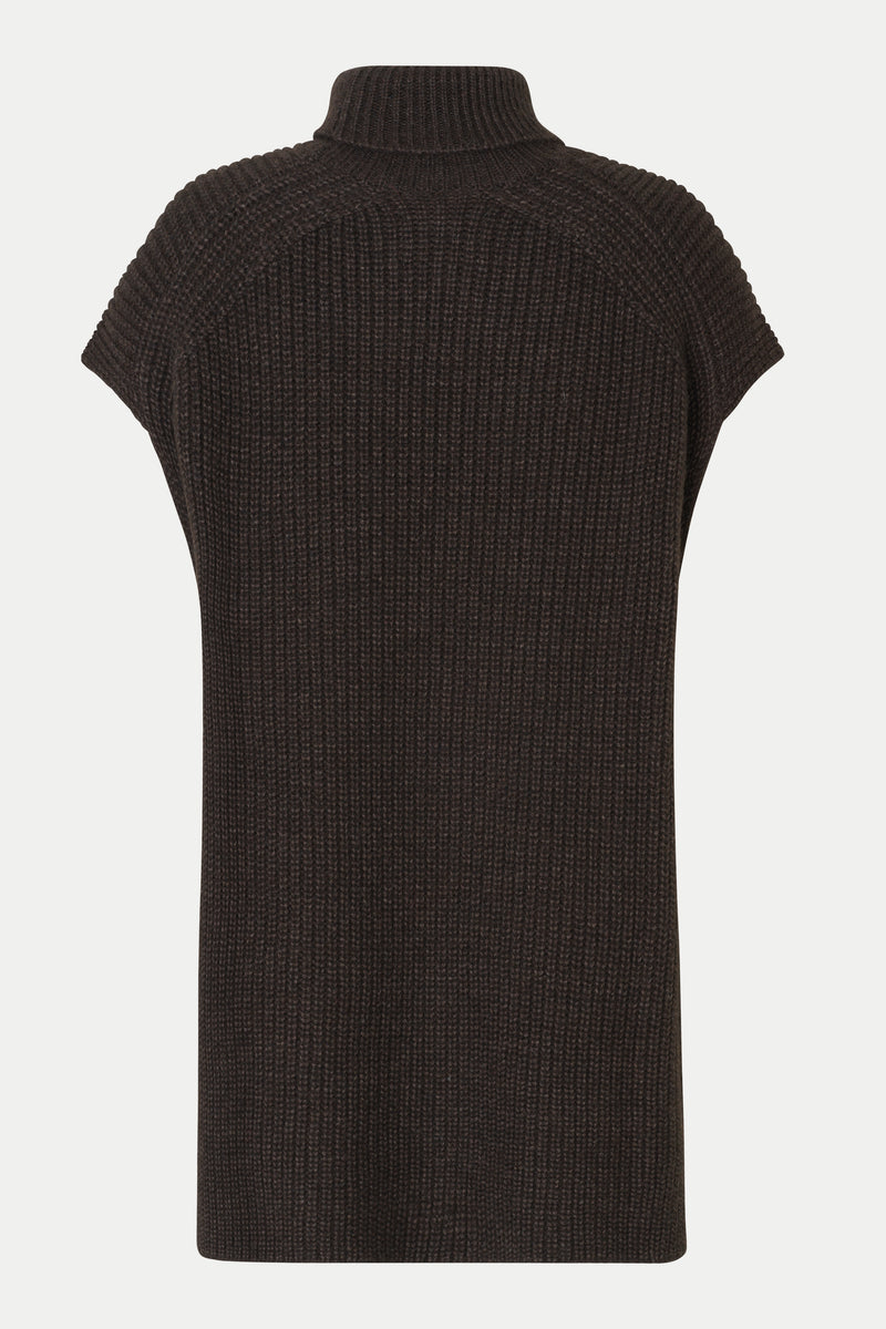 Belle Knit T-Neck Vest