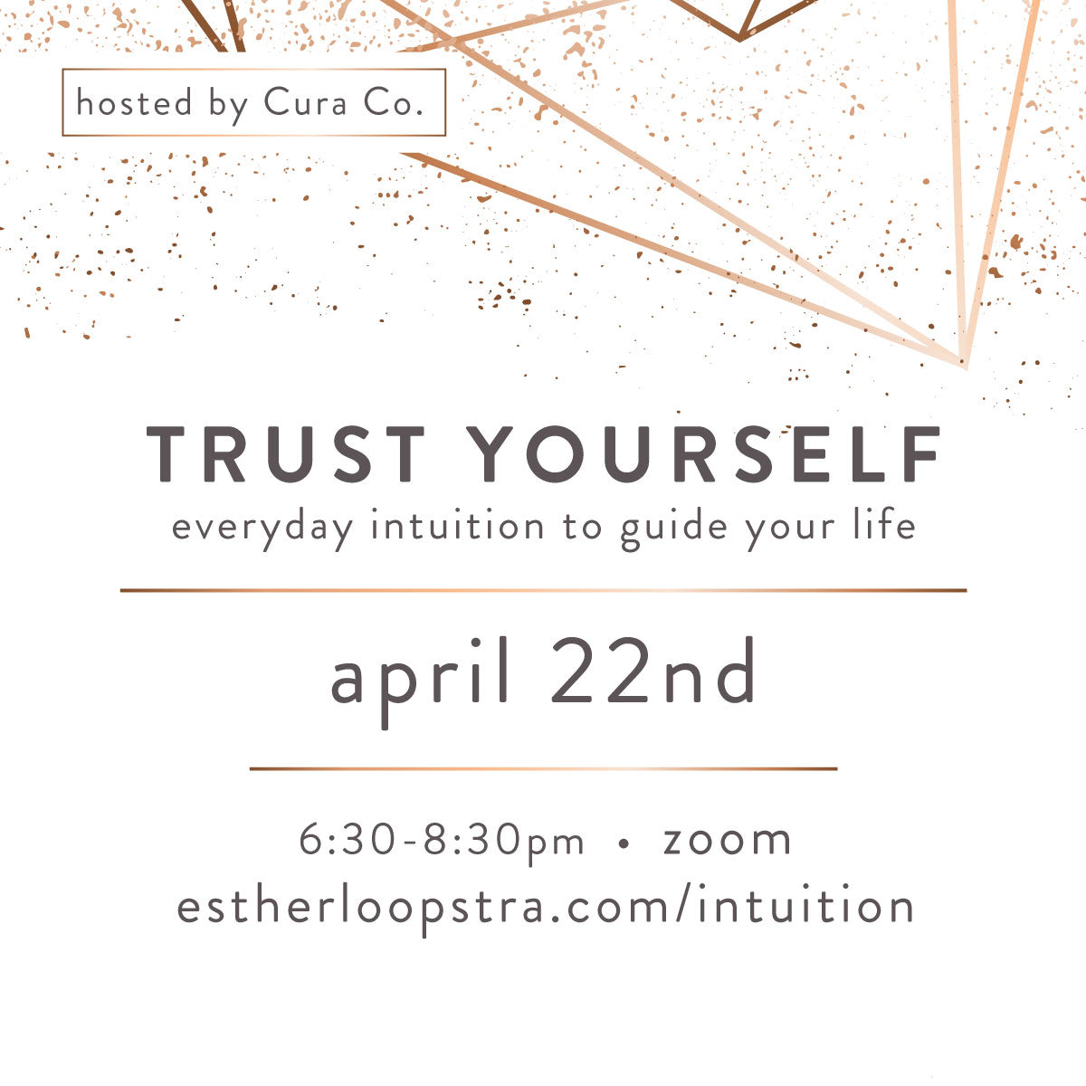 Trust your self everyday intuition to guide your life with Esther Loopstra