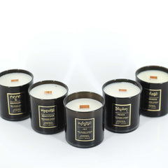 wood wick candles in various scents