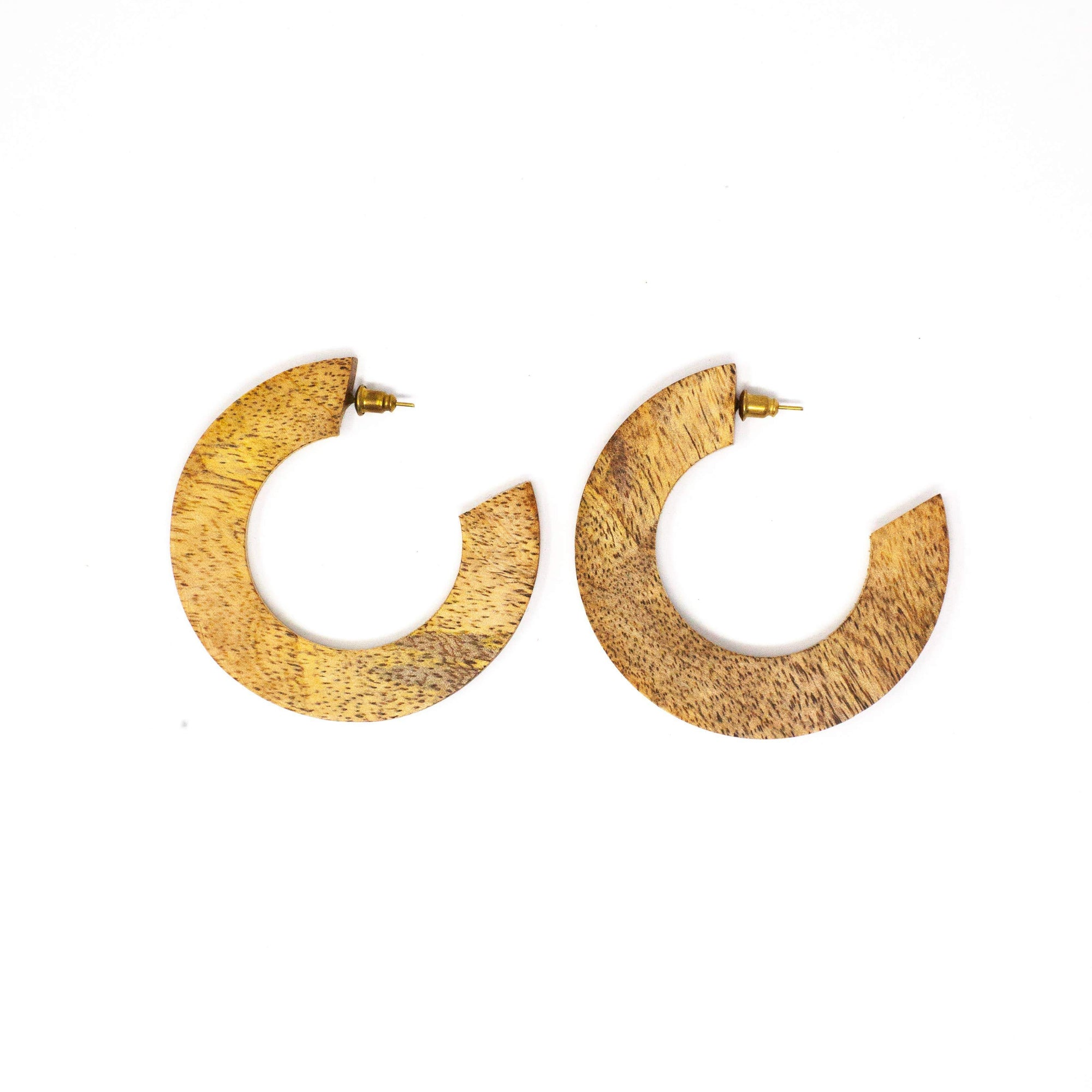 Rover & Kin Wood Mango Statement Hoops