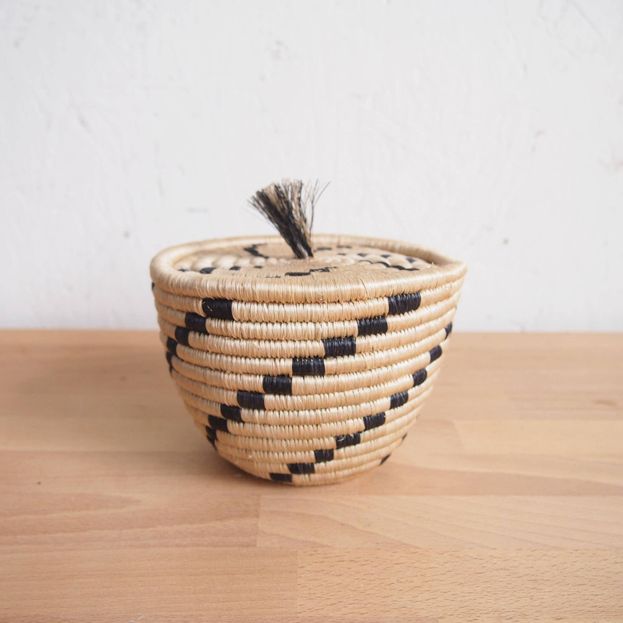 Amsha Tanga Mini Lidded Basket